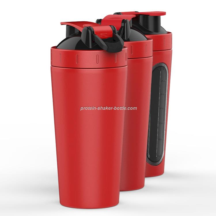 Stainless Steel Insulated Water Bottle Protein Mixing Cup Shaker Bottle