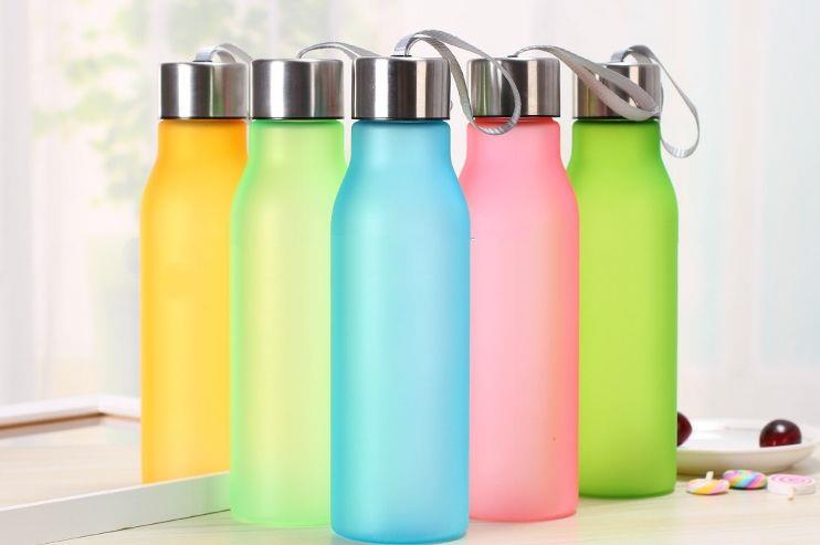 Unbreakable Fashion Colorful Drinking Water Bottle Plastic Sport Bottle for Wholesale