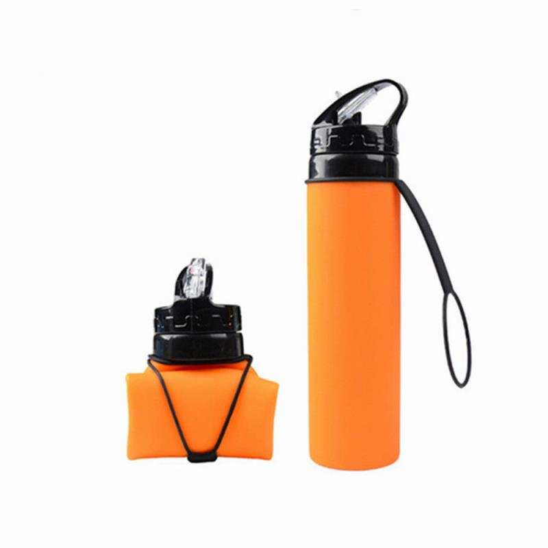 Wholesale Plastic Collapsible silicone Water Bottle Foldable 600ml