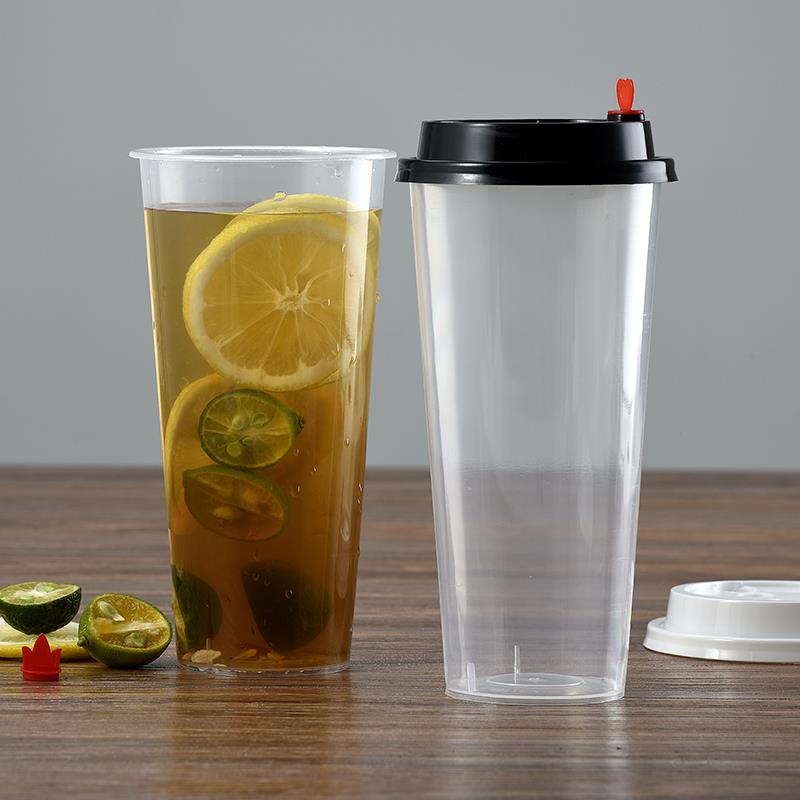 Factory price clear 700ml drinking coffee plastic pp drink cup