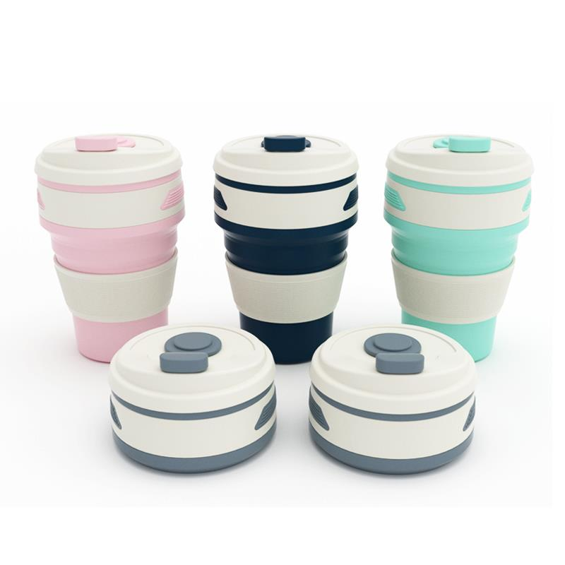 Promotion Quality Travelling Foldable Silicone Coffee Cup