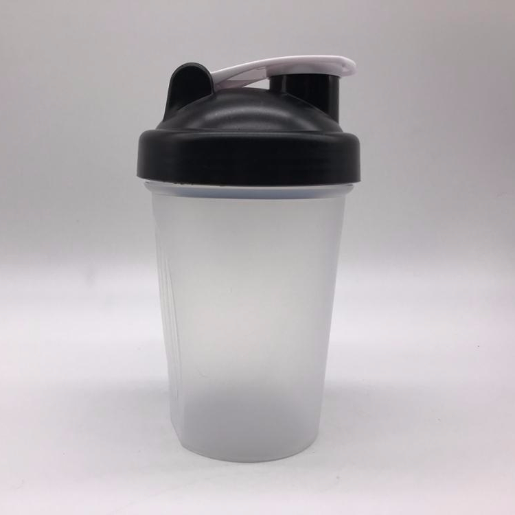 Custom Logo BPA Free 400ml 14oz Stainless Steel Mixing Ball Plastic Protein Shaker Bottle