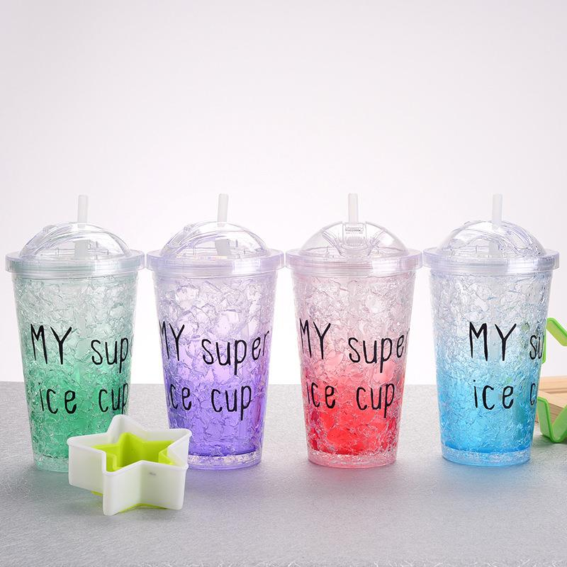 650ML Double Wall Ice Straw Cup