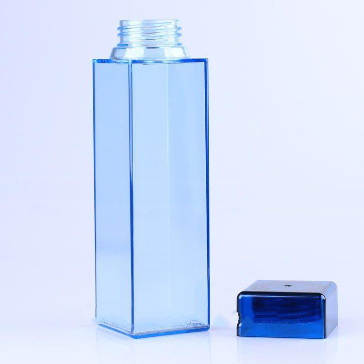 450ml Square Unbreakable Plastic Water Bottle