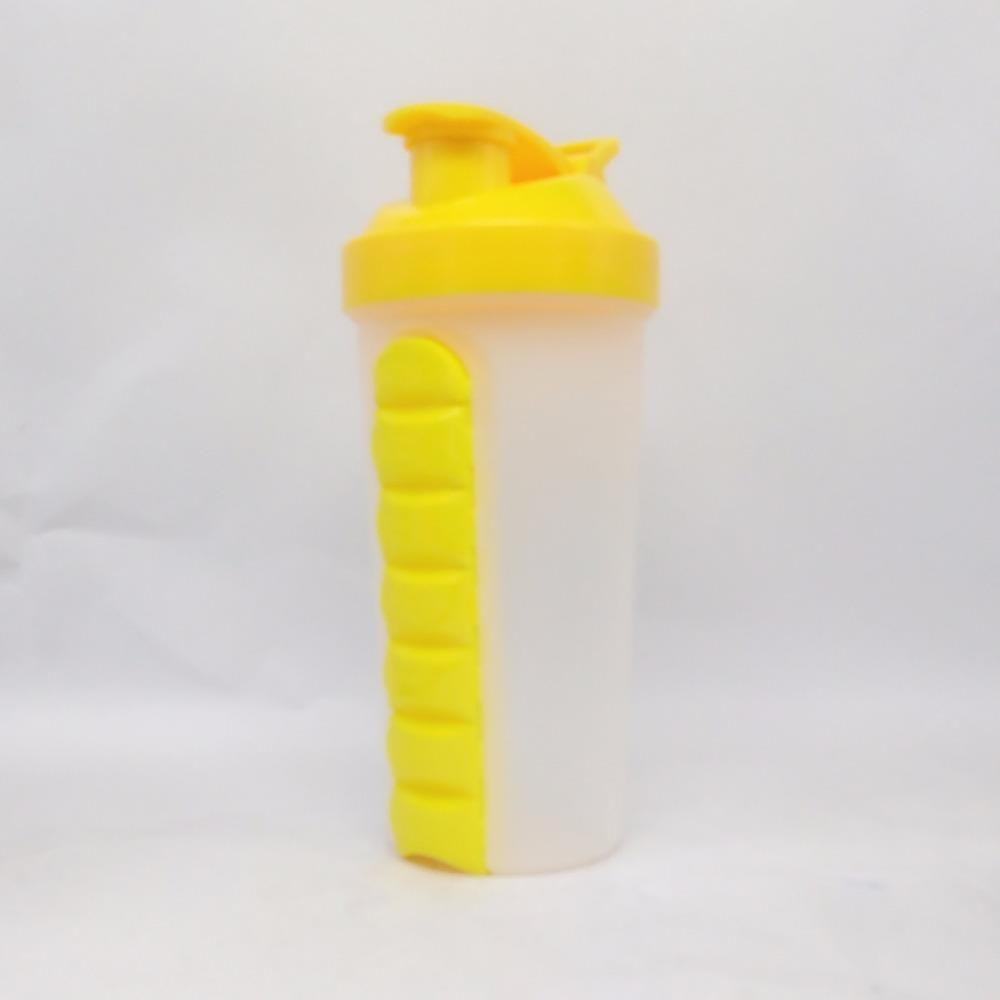 700ml PP plastic Wholesale Protein Shaker Bottle With Pill box For Protein Drinks