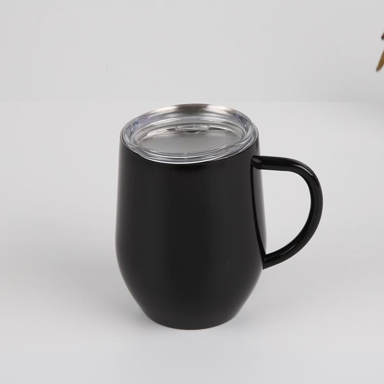 double layered stainless steel eggshell coffee cup