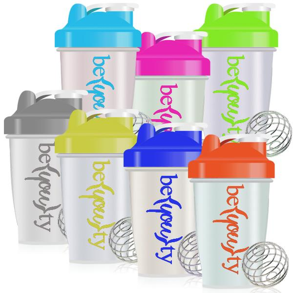 PP 400ml Classic Shaker Protein Bottle with Volume Mark  Mixing Ball