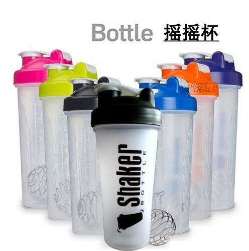 BPA free 600ml Plastic protein shaker cup