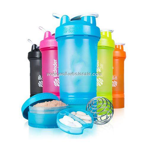 100% BPA Free 600ML customize logo shaker bottles