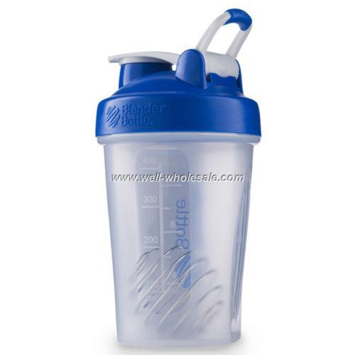 New style plastic protein shaker bottle with handle loop
