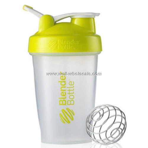 600ml BPA FREE shaker bottle with handle for gym