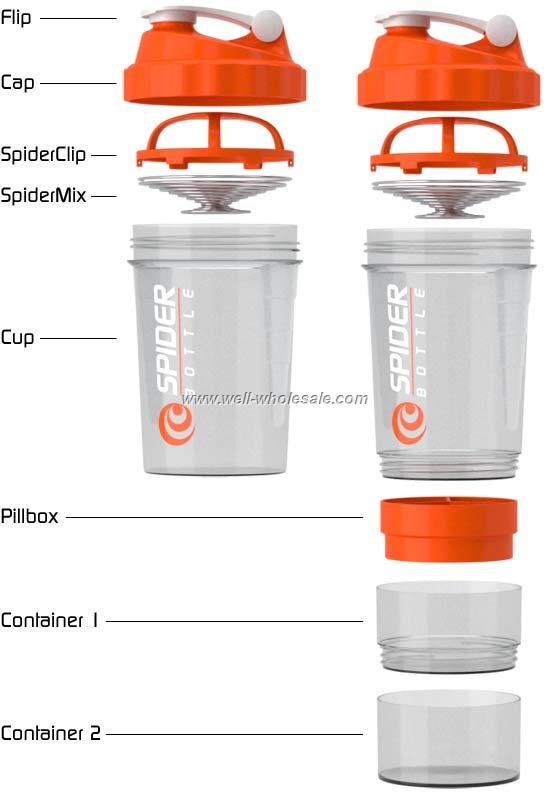 spider shaker cup