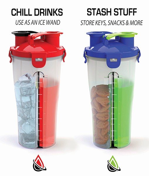 double lid shaker blender bottle