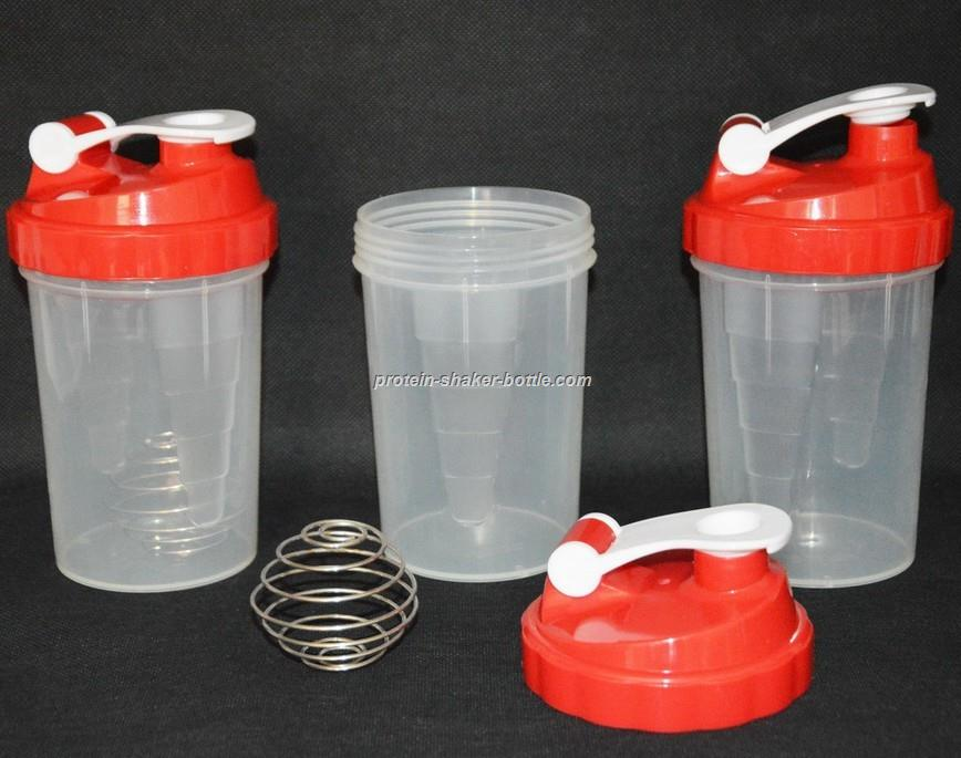 Protein Shaker Bottle Sport Powder Mixer Bottle with pill box