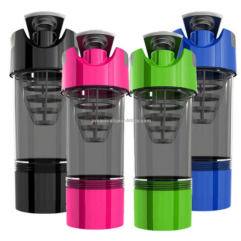 600ml Cylcone plastic mixer shaker cup with pill box
