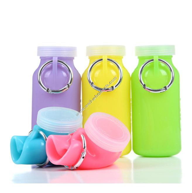 sport silicone foldable water bottle