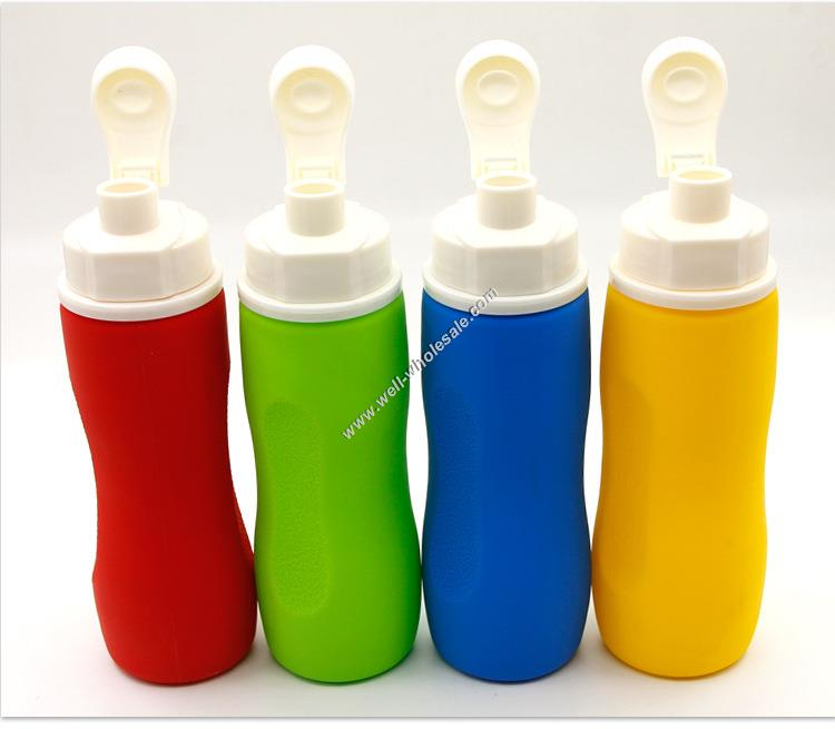 Custom BPA Free Silicone Foldable Water Bottles with Logos