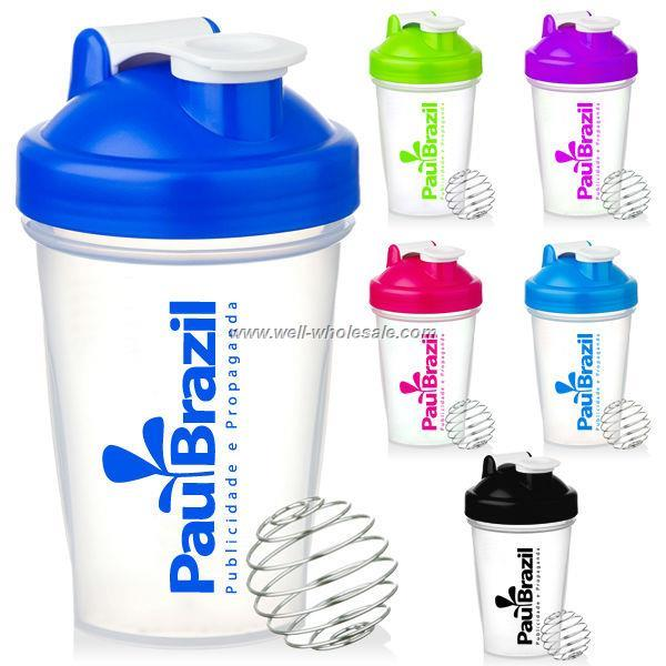 400ml 600ml colorful bpa free PP plastic shaker bottle