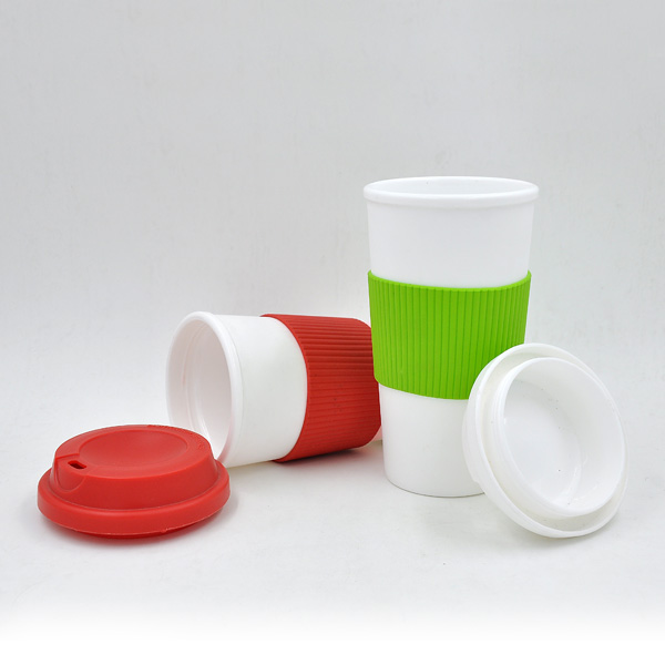 promotional travel coffee mug with silicone sleeve manufacturer