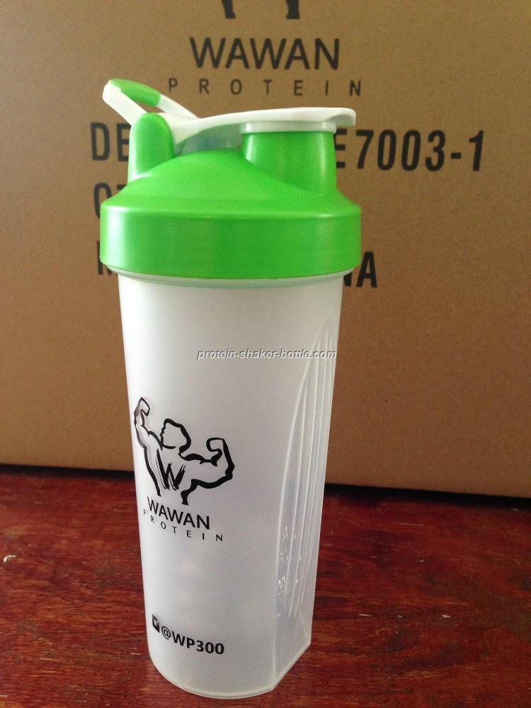 600ml plastic shaker cup with lid