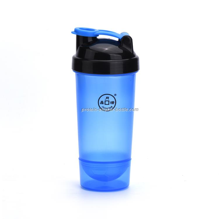 600ml football mixer protein shaker bottle