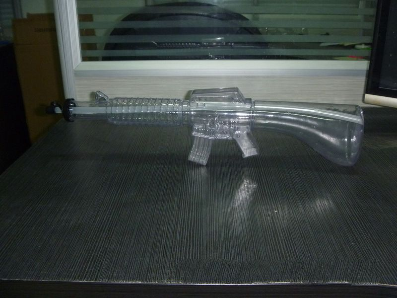 Gun Shaped yard glass