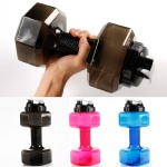 2.2L plastic custom shaker dumbbell gym sports water bottle jug
