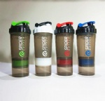 500ml protein shaker sport plastic water bottle