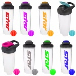700ml/24oz Custom PP Protein Shaker Bottle with Plastic Ball