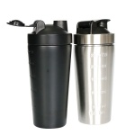 stainless steel protein blender shaker bottle