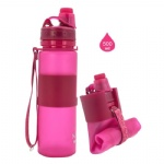 Patent Soft Body Portable Foldable 16 oz plastic bottles