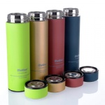 stainless steel sport bottle double wall metal water bottle with tea infuser