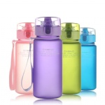 outdoor sports school leakproof 400ml 560ml casual portable plastic water bottle