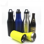 Vacuum Stainless Steel Insulator Beer Holder ,vacuum thermos wine bottle insulator