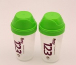350ML Plastic Protein Powder Shaker Bottle