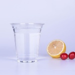 12oz Glass Look Plastic Cup With Dome Lids Wholesale