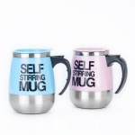 capacity 450ml creativity Big Belly Coffee Mug With Lid Stainless Steel Thermos Thermocup Bottle Cups And Mugs For Office