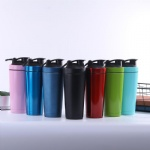 New design 750ml stainless steel protein shaker bottle