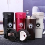 Stainless Steel Custom Logo Tumbler Travel Coffee Mug Water Cup