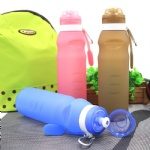 2018 Stocked Sport Silicone Travel Bottle Folding Water Bottle