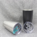 20 oz vacuum insulated stainless steel tumbler / car cup , double wall 18/8 stainless steel water bottle