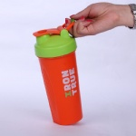 Custom Logo BPA Free 600ml Plastic PP Protein Shaker Bottle