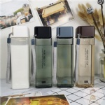 500ml square pillar design square shaped water bottle tritan water bottle
