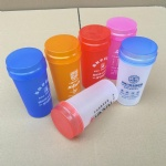 350ml plastic cup,350ml plastic cup with screwed lid