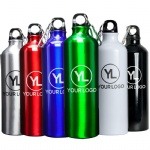 Custom Logo Printing Wholesale Outdoor Sports Cycling Aluminum Water Bottle