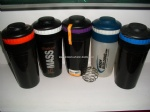 Professional Plastic Cup/0.1 gallon Protein Shaker Bottle/BPA Free 500ml Water Bottle
