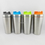 304 stainless steel sport protein shaker, stainless steel gym water blender bottle,energy drink bottle