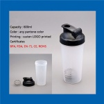 Wholesale plastic BPA free water protein shaker bottle