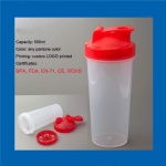 Personalized shaker bottles plastic drinking bottle