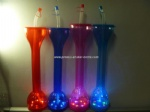 factory sale LED creative Plastic cup with straw yard glass,yard cup,650ml